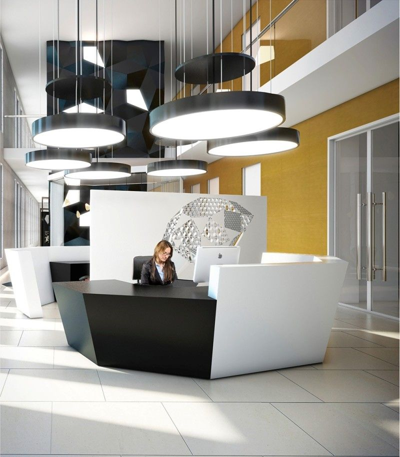 cool office reception areas. Attractive Office Reception Area Design Ideas With Modern Pendant Light Cool Areas