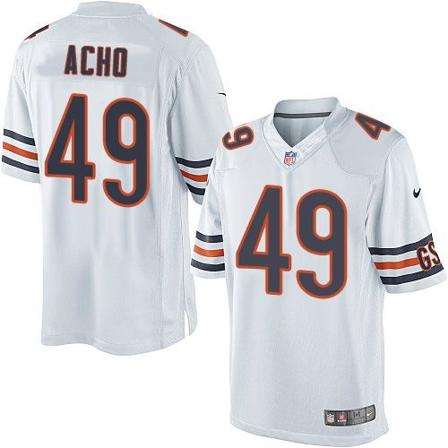 86fafd478b3 Nike Limited Sam Acho White Youth Jersey - Chicago Bears  49 NFL Road