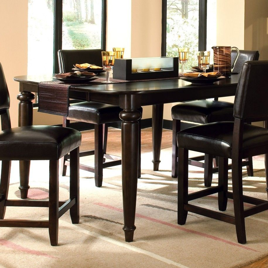 Cozy Tall Kitchen Table For Large Design Black Elegant Dining Set