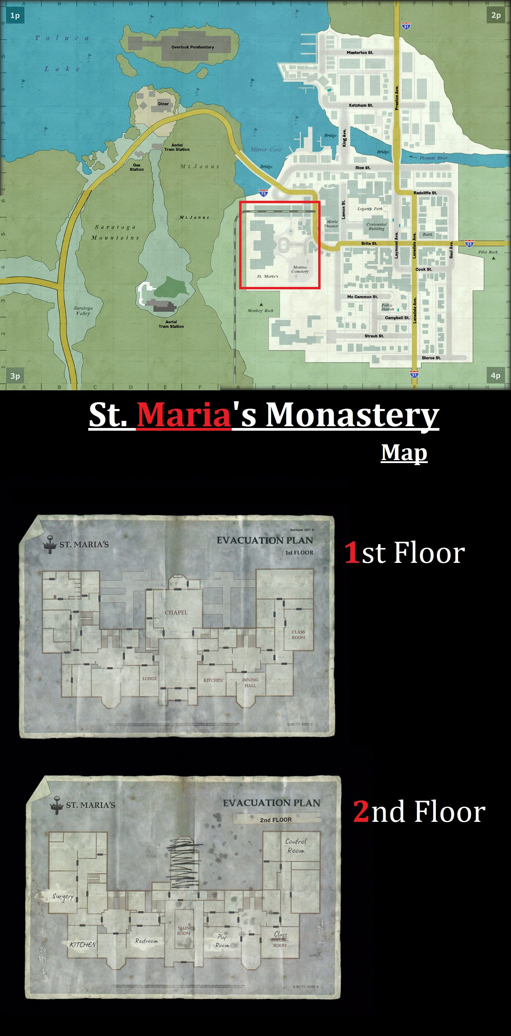 Silent Hill Downpour Maps St Maria S Monastery Silent Hill