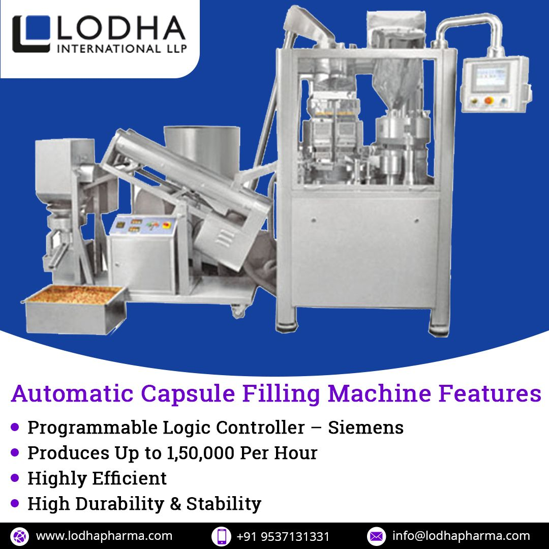 Automatic Capsule Filling Machine Programmable Logic Controllers Capsule Filling