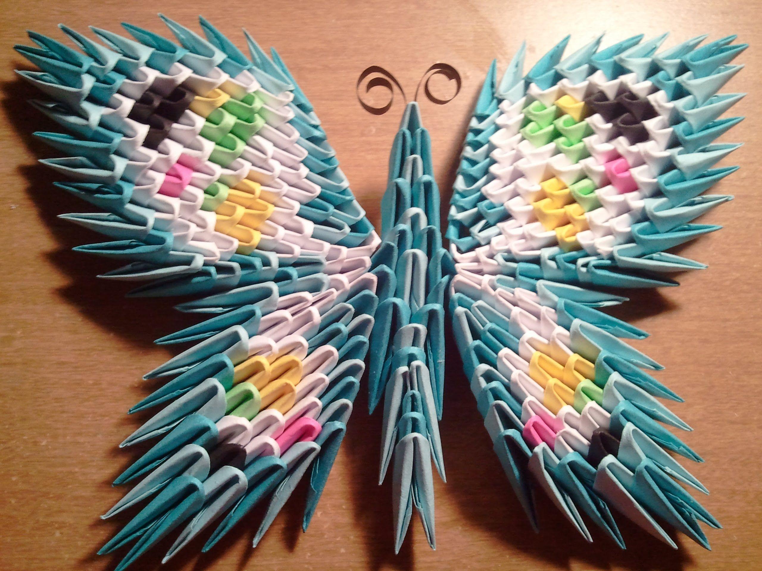 мастер класс оригами павлин схема 3д