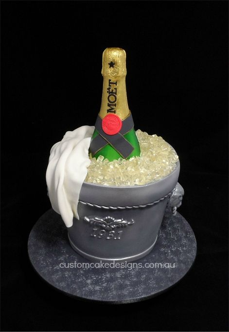 Champagne Moet Ice Bucket Cake By Customcakedesigns