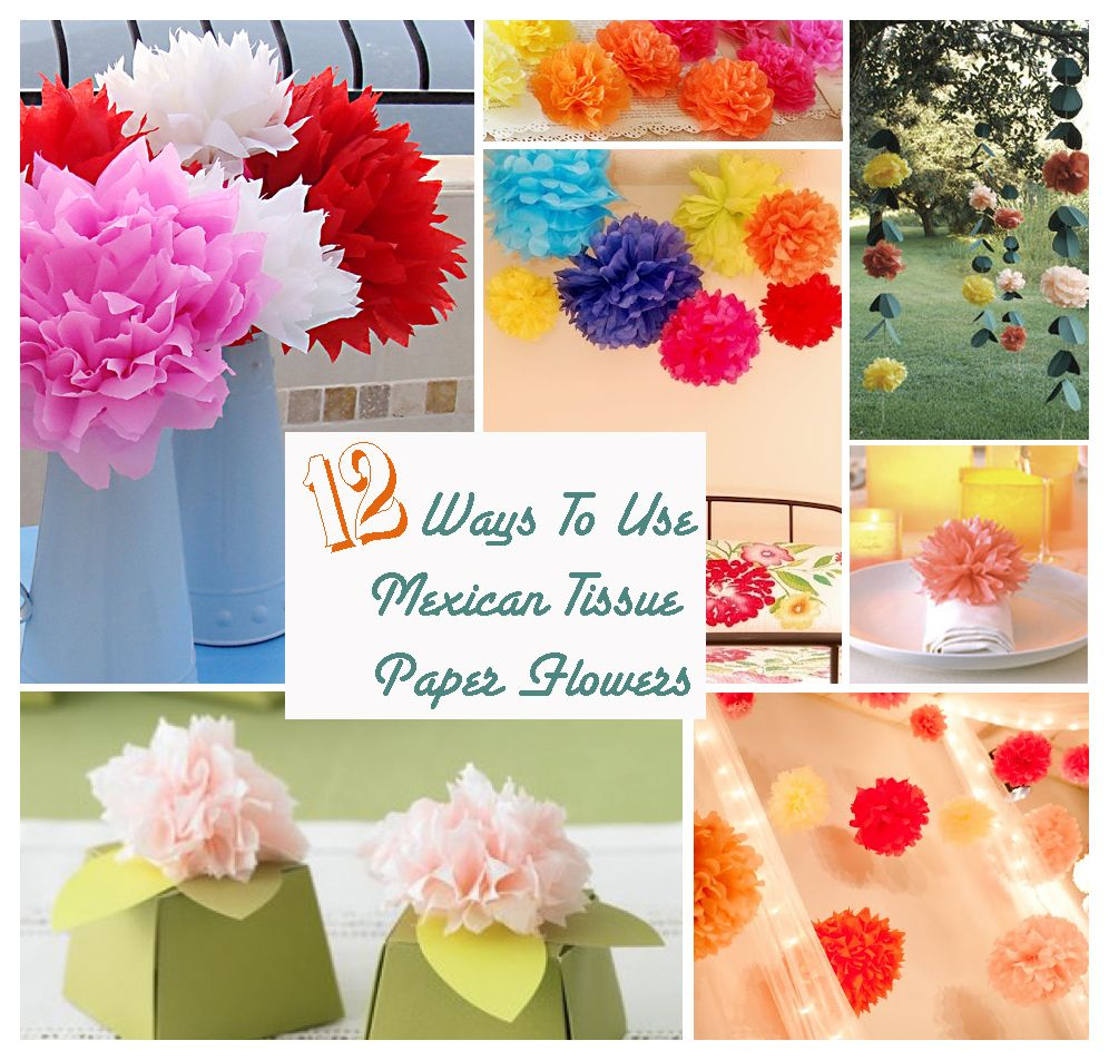 12 Ways To Use Tissue Paper Flowers Maybe Small Flowers On The