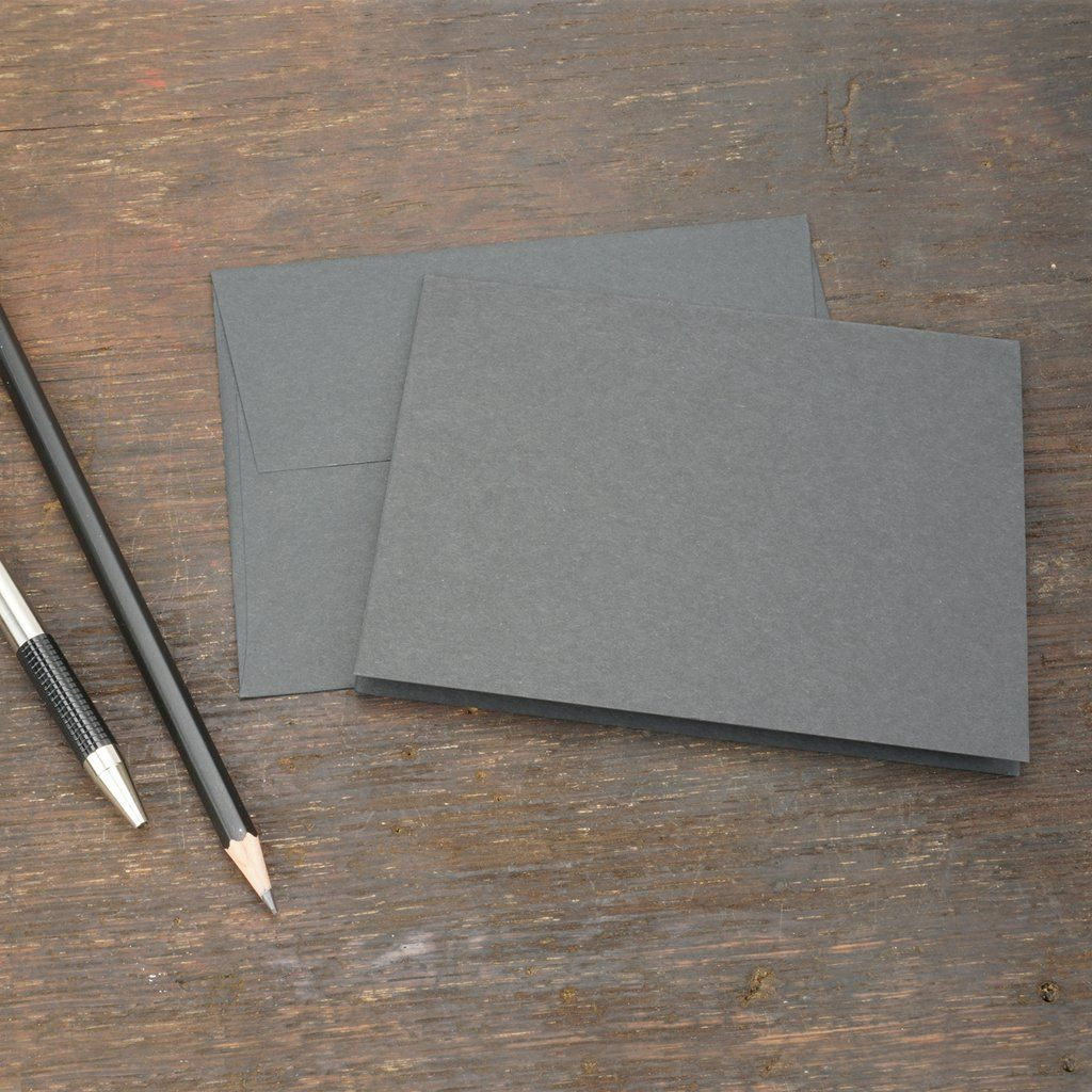 Black note cards with envelopes size a2 in 2020 note