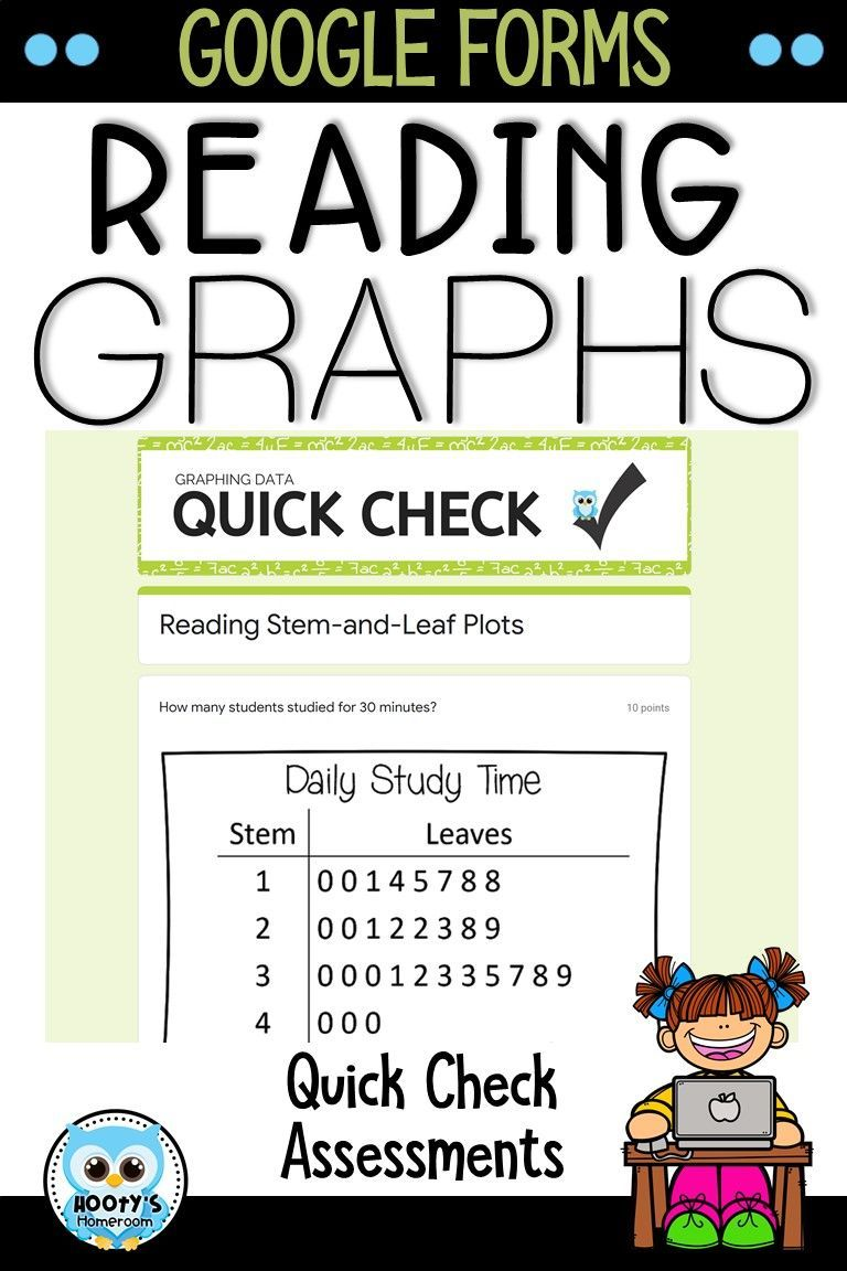 Reading Graphs Using Google Forms Hooty S Homeroom Reading Graphs Elementary School Math Graphing [ 1152 x 768 Pixel ]