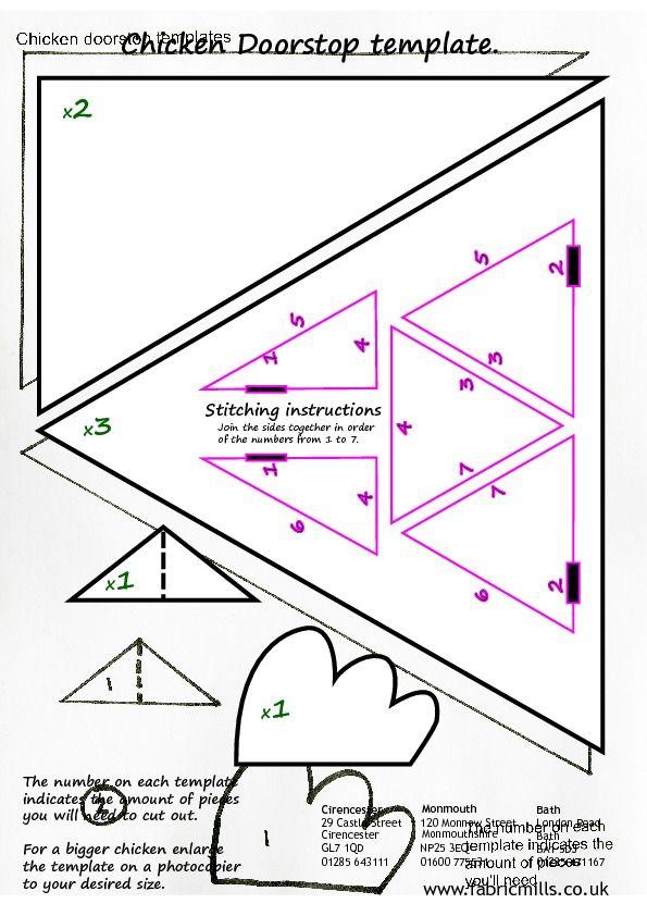 free printable doorstop pattern - Google Search   doorstops ...
