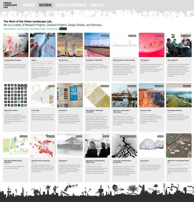 portfolio layout inspiration