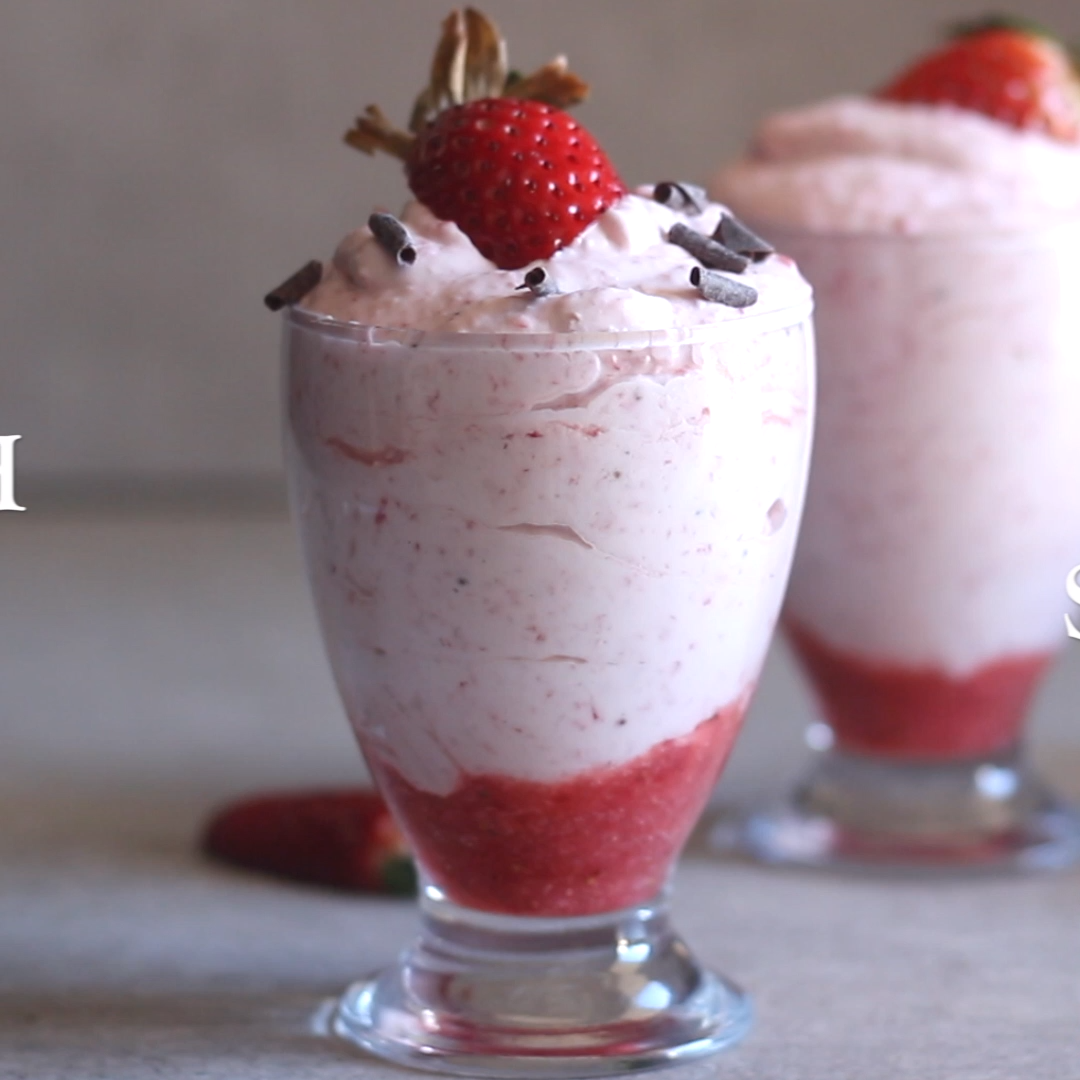 Easy Fresh Strawberry Mousse