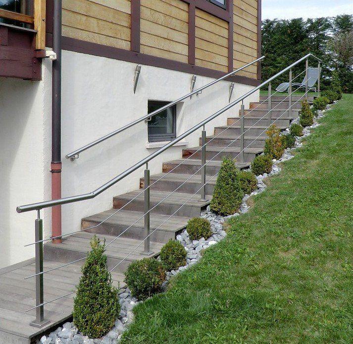 Garde corps ext rieur rambarde sur mesure terrasse et for Plan de perron exterieur