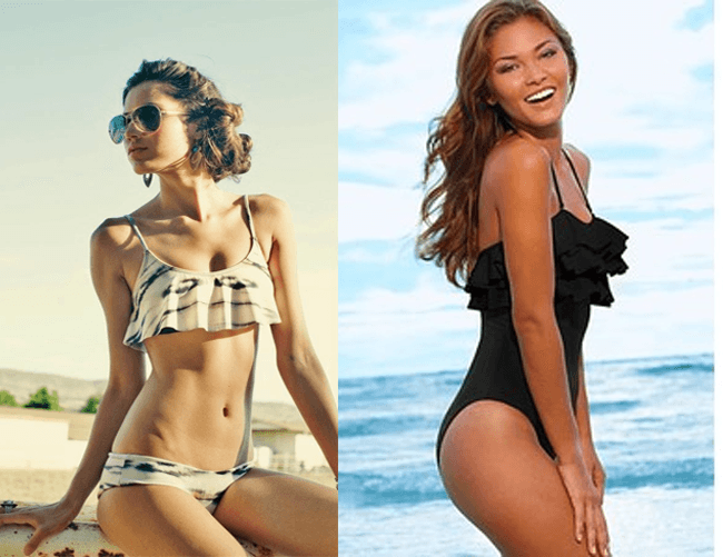245cb4d2c0 Top 5 #Swimsuits that look Best on Women with Small Breast - Ruffled  Swimsuit | #FashionTips #FashionLady