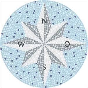 mosaik vorlage kompass d 80cm incl kohlepapier v1303 garden pinterest kompass mosaik. Black Bedroom Furniture Sets. Home Design Ideas