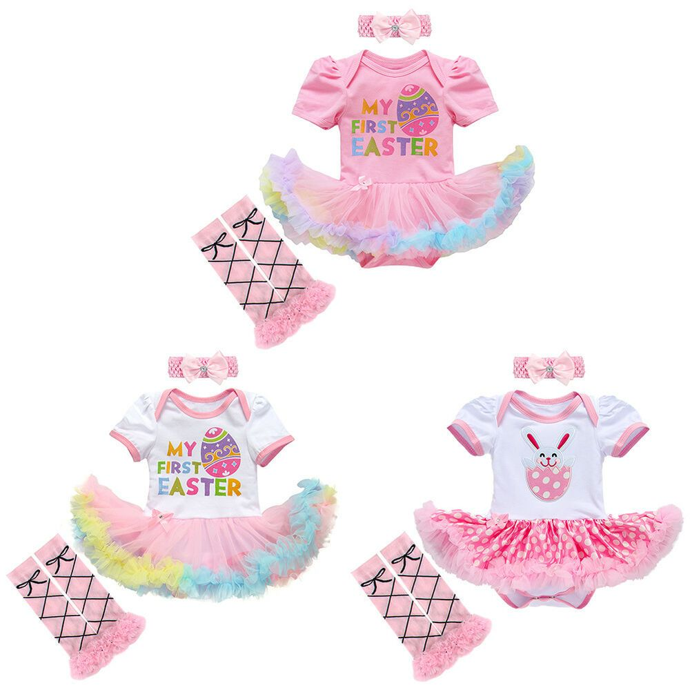 8bd35939e My 1st First Easter Romper Costume for Baby Girls Bunny Fancy Dress  Headband Set #fashion #clothing #shoes #accessories #babytoddlerclothing ...