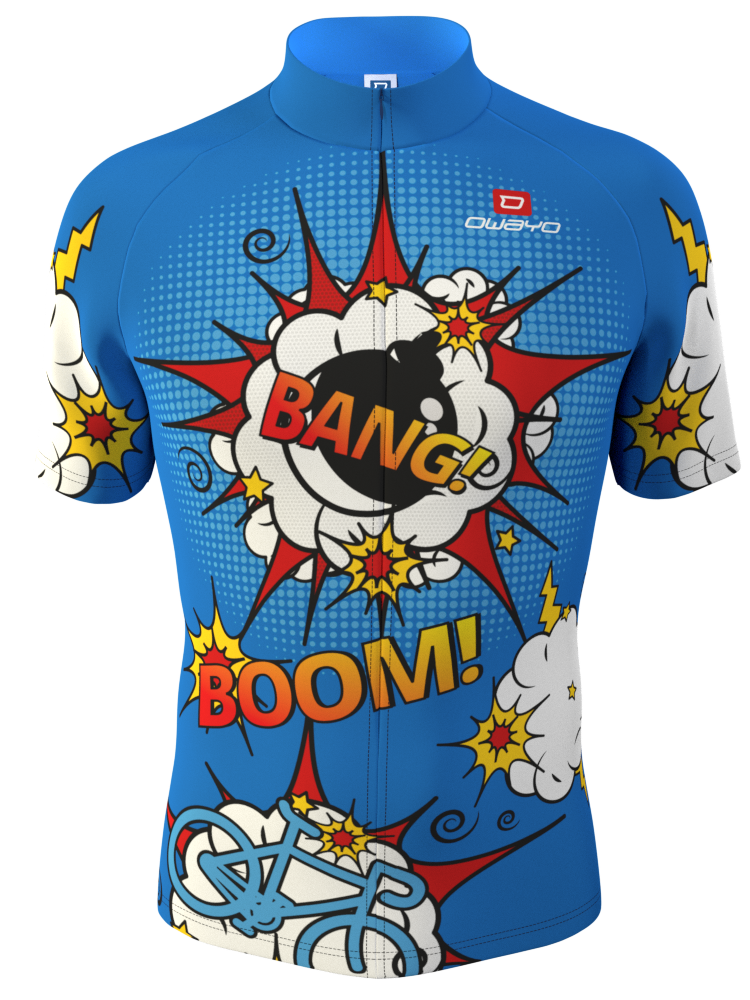 Comic Bike Jesery Design Made In The Online 3d Configurator At Owayo Com Great Team Jersey Design Bike Jersey Design Jersey Design Cycling Outfit