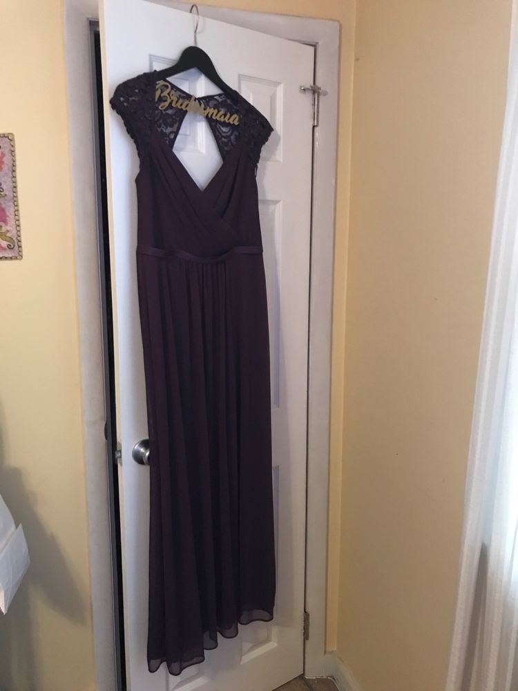 6917a19fa10b Davids Bridal Bridesmaid Dress - Plum Style F19505 - Size 8 #fashion  #clothing #shoes #accessories #weddingformaloccasion #bridesmaiddresses  (ebay link)