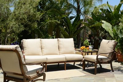 The Celaya collection from Mallin furniture has a clean contemporary design that features a unique attached cushion with a beefy over-sized frame offering casual comfort with a luxurious feel.