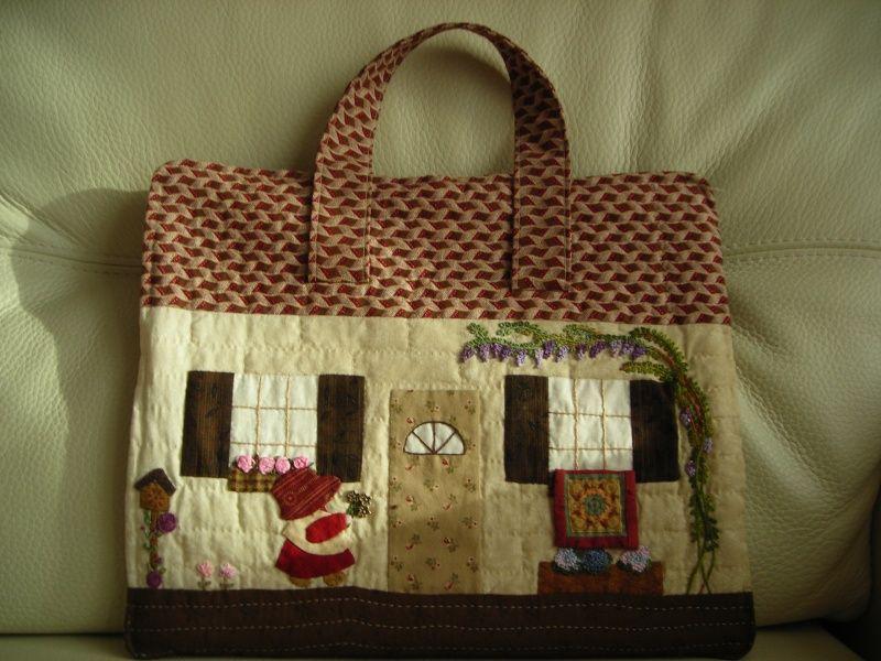 inspiration patron gratuit de sac en patchwork quilting. Black Bedroom Furniture Sets. Home Design Ideas