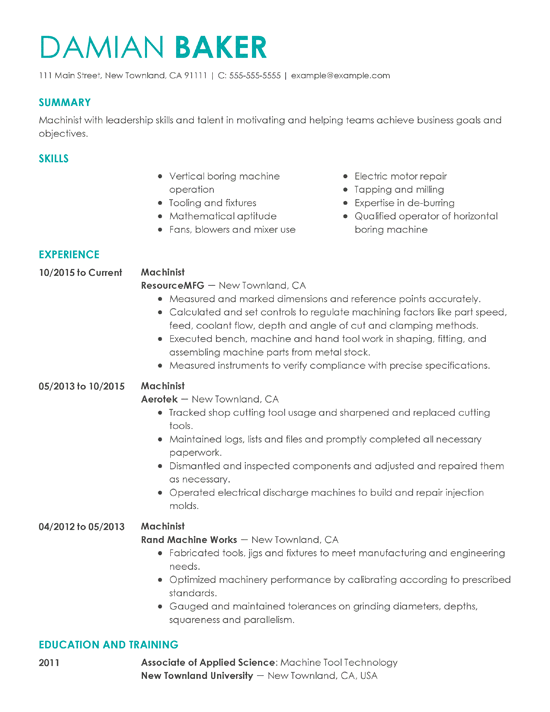resume examples 2019 Google Search (With images