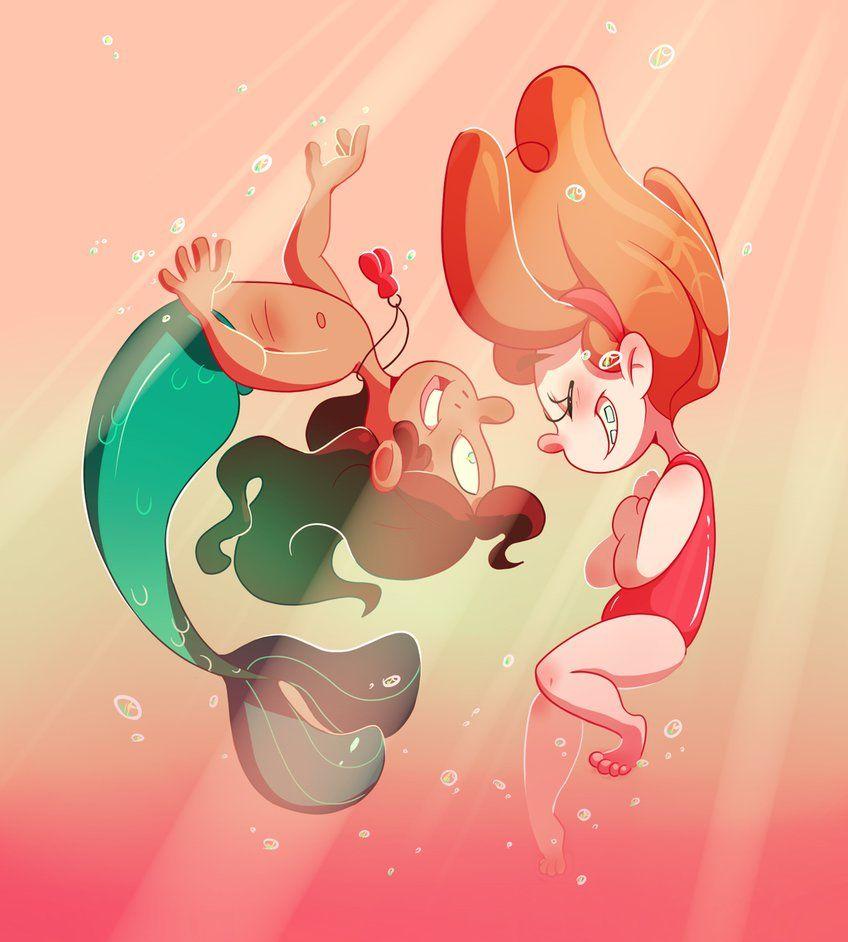 Mabel and Mermando by Fledertier on DeviantArt