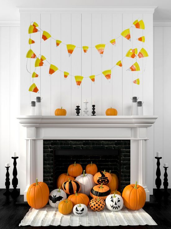 DIY Halloween Paper Plate Candy Corn Banner Tutorial - This cute and - cheap diy halloween decorations