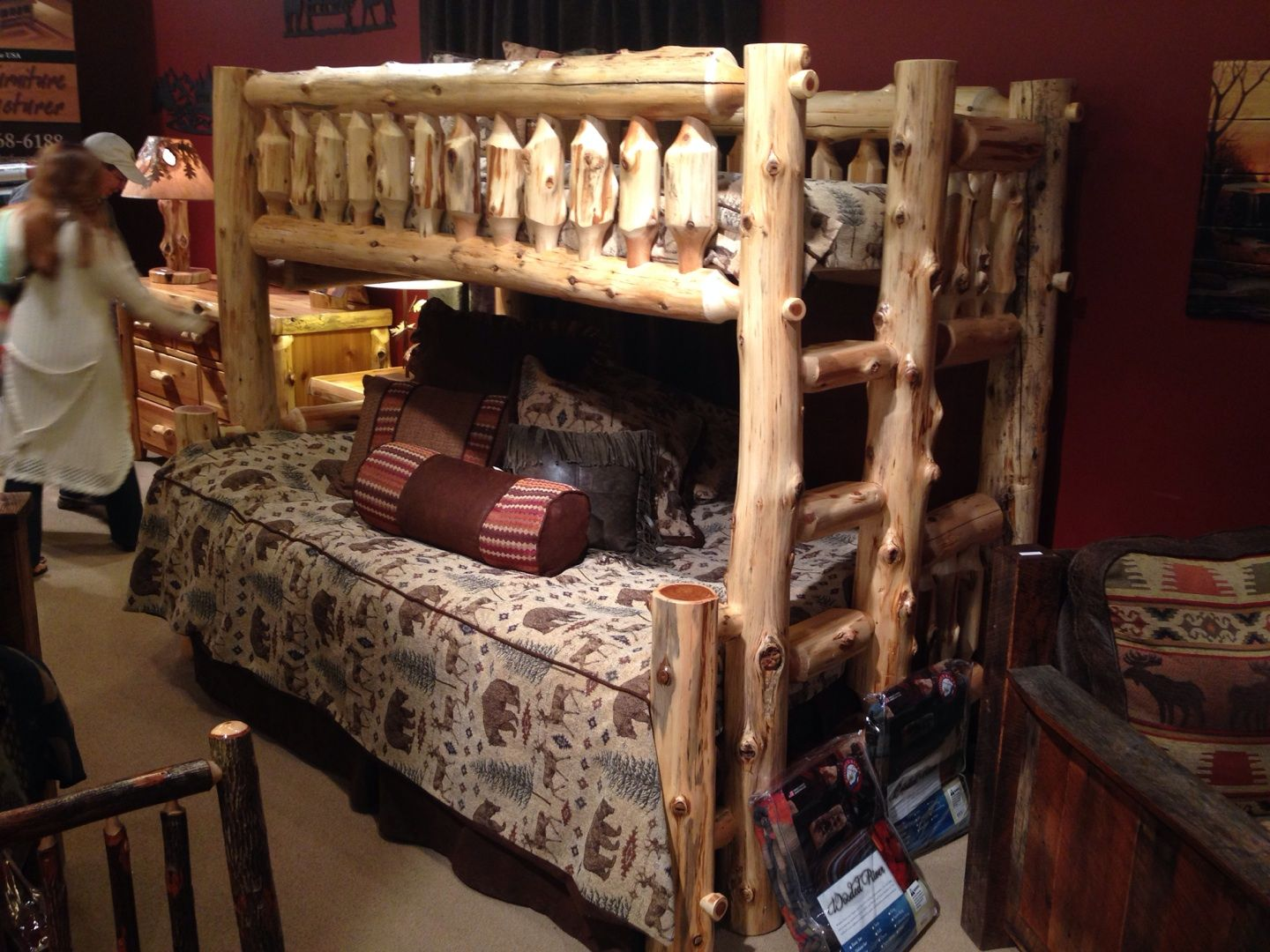 This is such a great rustic looking bunk bed. Would your