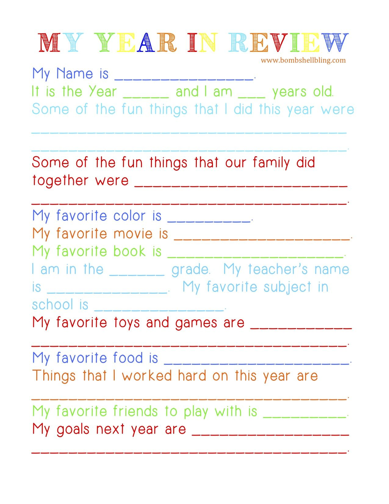 I love this New Year\'s reflections tradition for family night ...