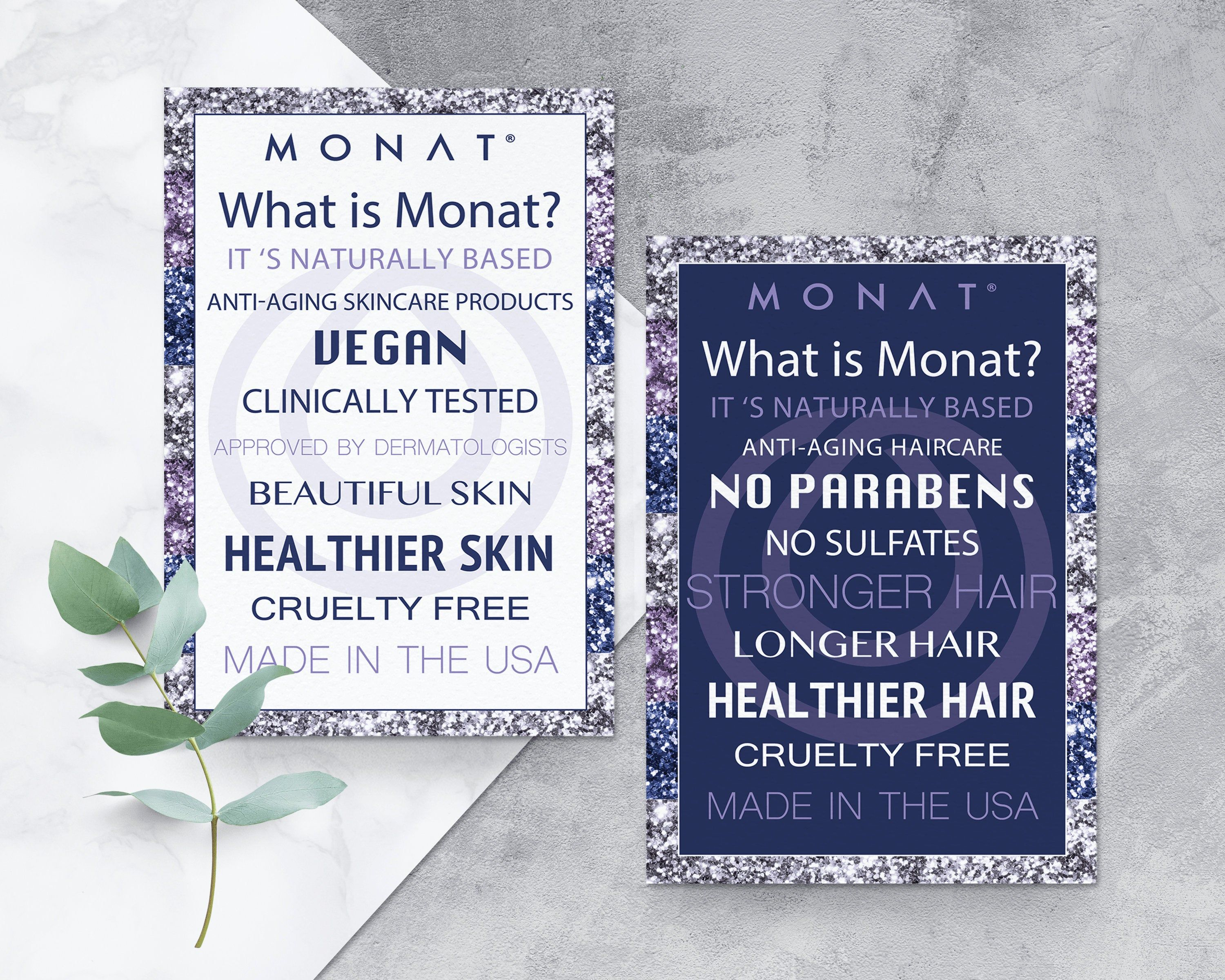 What Is Monat Flyer Monat Skincare Info Card Monat Haircare Etsy In 2020 Monat My Monat Skin Care