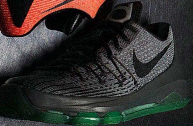 54df4f800a09 Nike KD 8 Hunts Hill Night Night SilverDeep Pewter Tumbled Grey Green Glow  749375 020