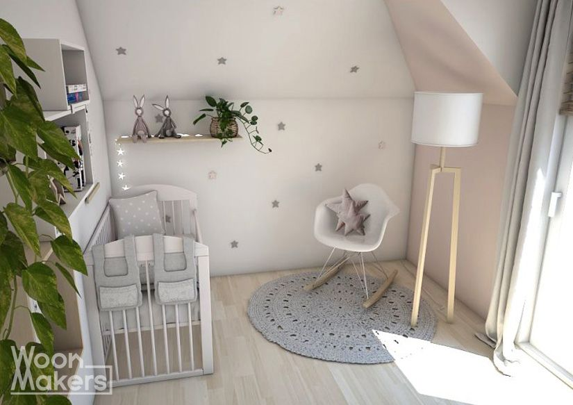 Babykamer voor een meisje sterren en licht roze little pink star