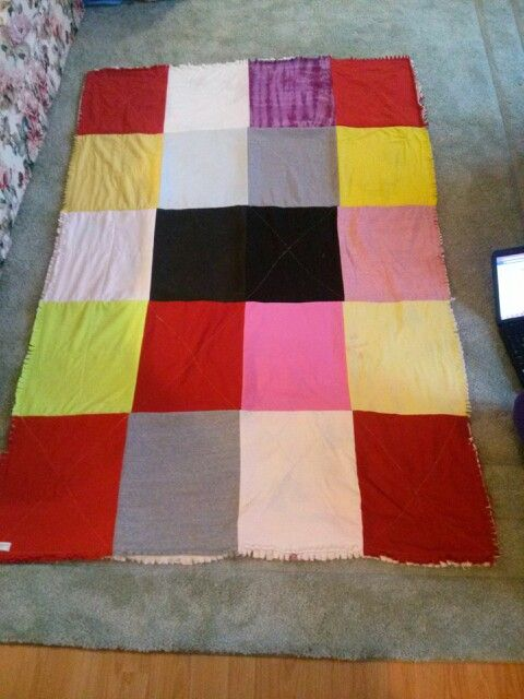 Back side to rag tee shirt quilt