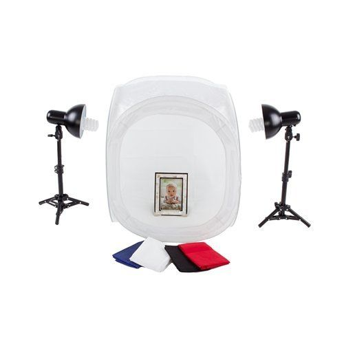 Robot Check Photography Light Tent Fluorescent Bulb Table Top Lighting