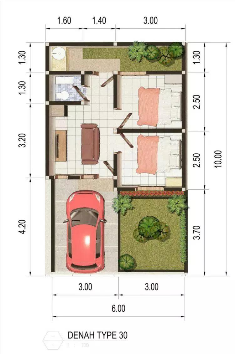 Gambar Desain Rumah Type 30 60 Dengan Gambar Desain Rumah