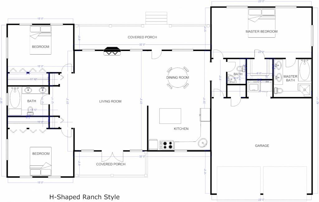 Country Ranch House Plan 40026 Ranch Style House Plans Dream House Plans Ranch Style Homes