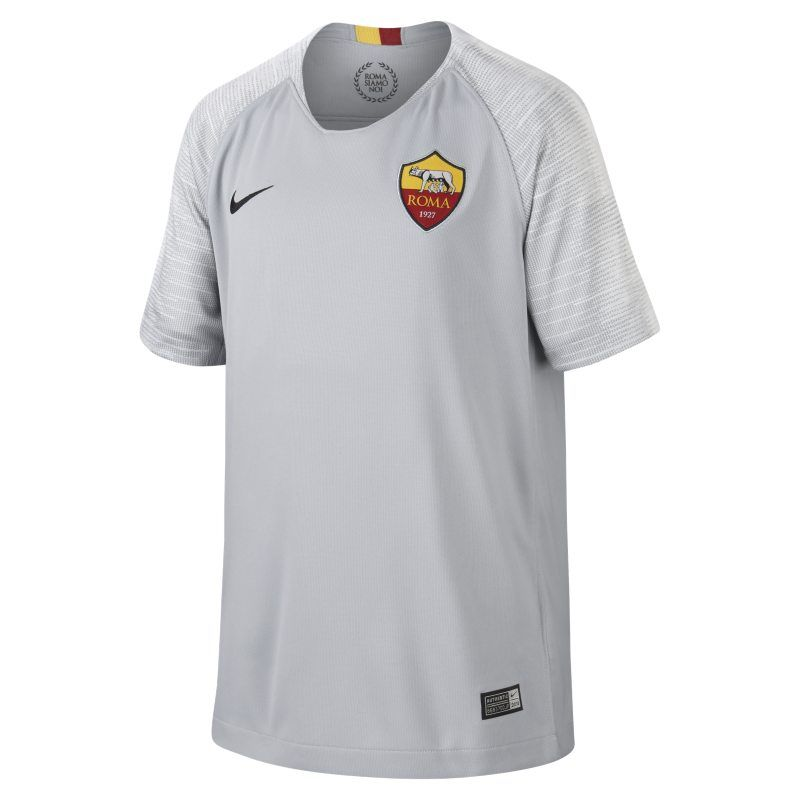 5f220139f16 2018 19 AS Roma Stadium Away Older Kids Football Shirt - Grey ...