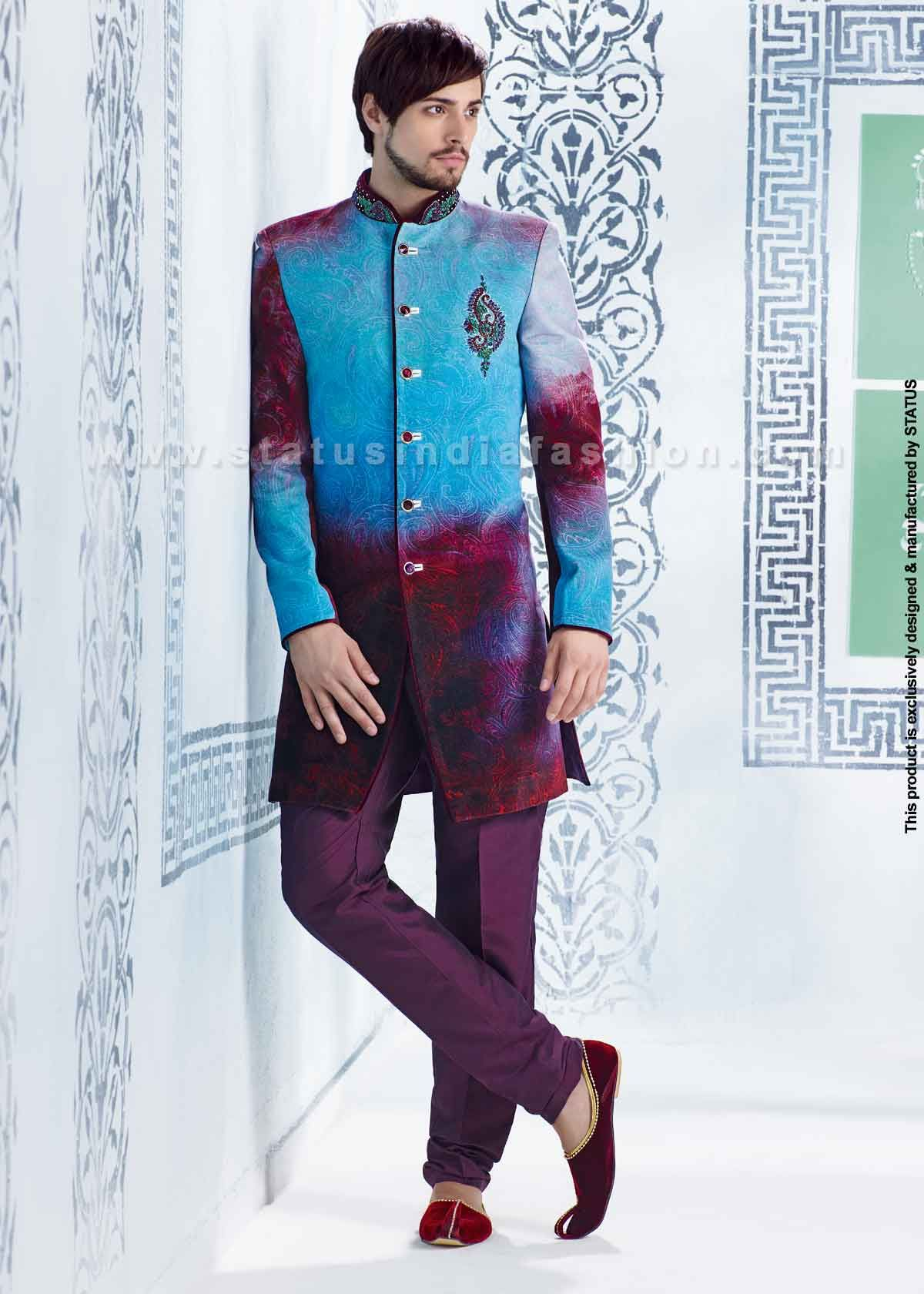 Velvet sherwani, indian wedding wear, groom sherwani, best sherwani ...