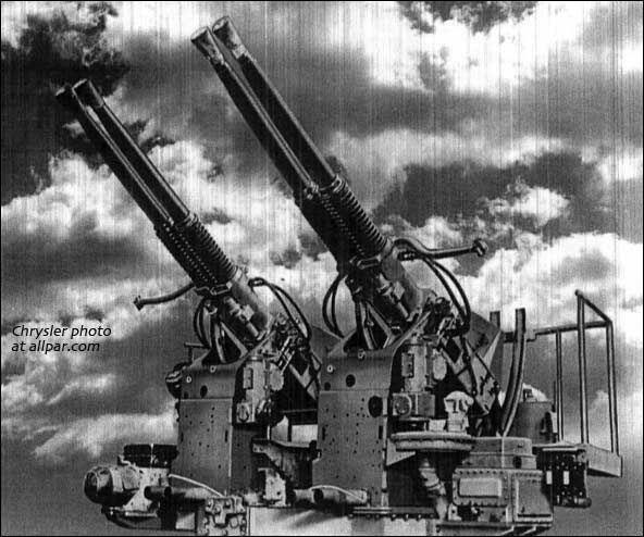 Bofors 40mm dual barrel