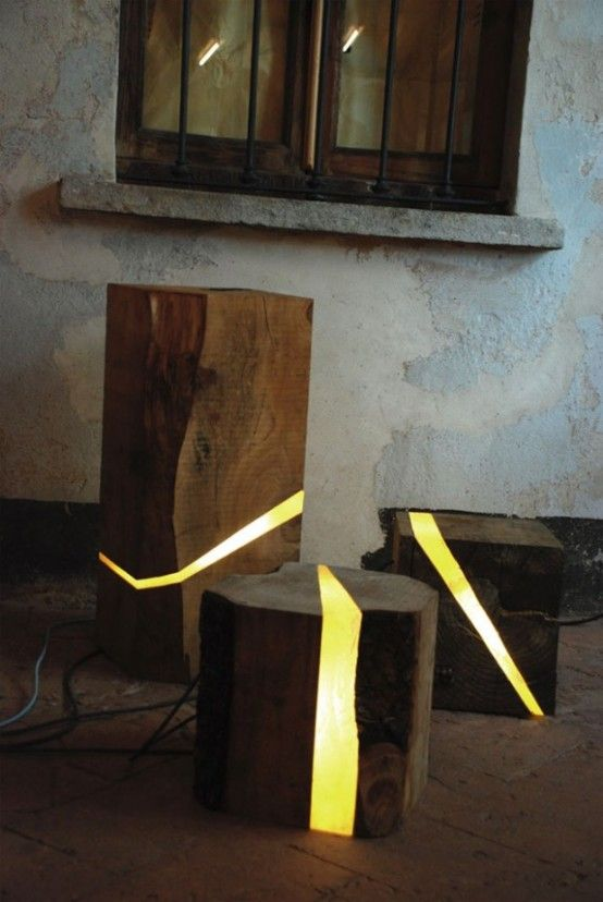 Designer Beleuchtung Aus Holz Resten Sitzplatz Mobel Pinterest
