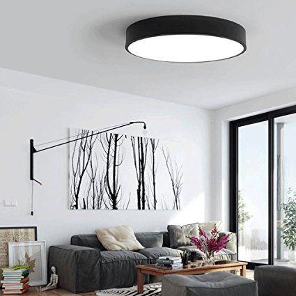 Moderne minimalistische LED-Deckenleuchten runden das ...