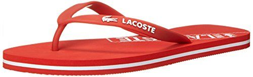 575f80737 Lacoste Womens Ancelle RES Flip Flop Red 7 M US -- For more information