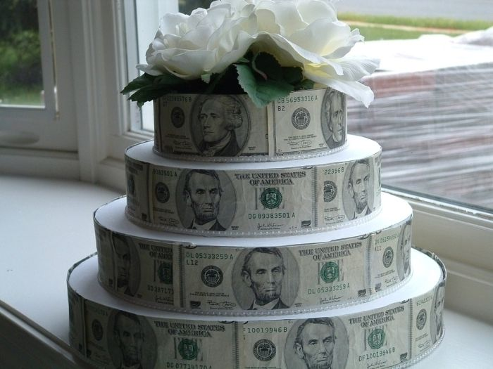 Pinterest Money cake