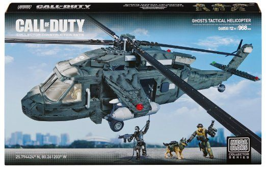 Mega bloks call of duty ghosts tactical helicopter christmas gifts call of duty black call - Lego avion de guerre ...