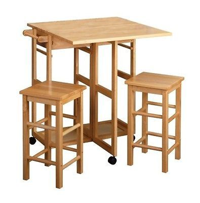 Tall Wood Table And Stools Square Small Narrow Bar Stool