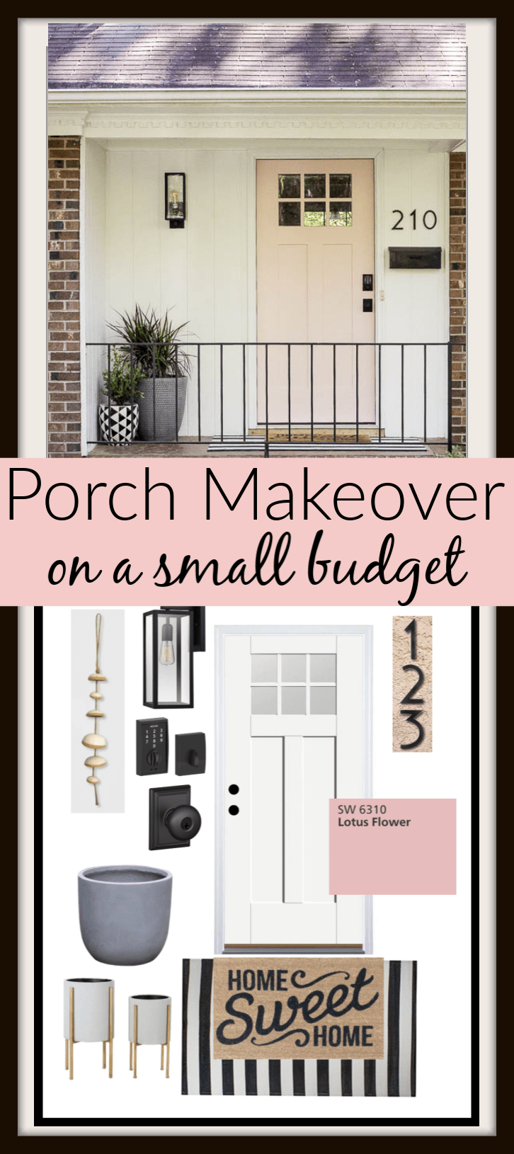 Small Front Porch Budget Makeover Small Front Porches Front Porch Ideas Curb Appeal Budget Makeover