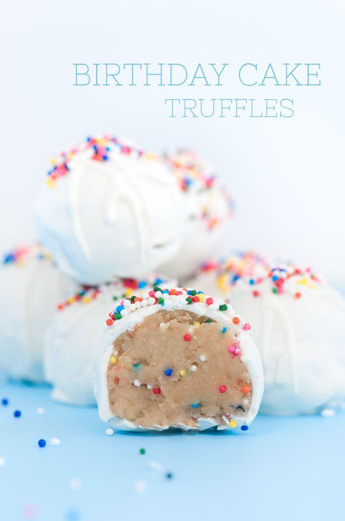 Enjoyable Birthday Cake Truffles Recipe With Images Cake Truffles Personalised Birthday Cards Bromeletsinfo