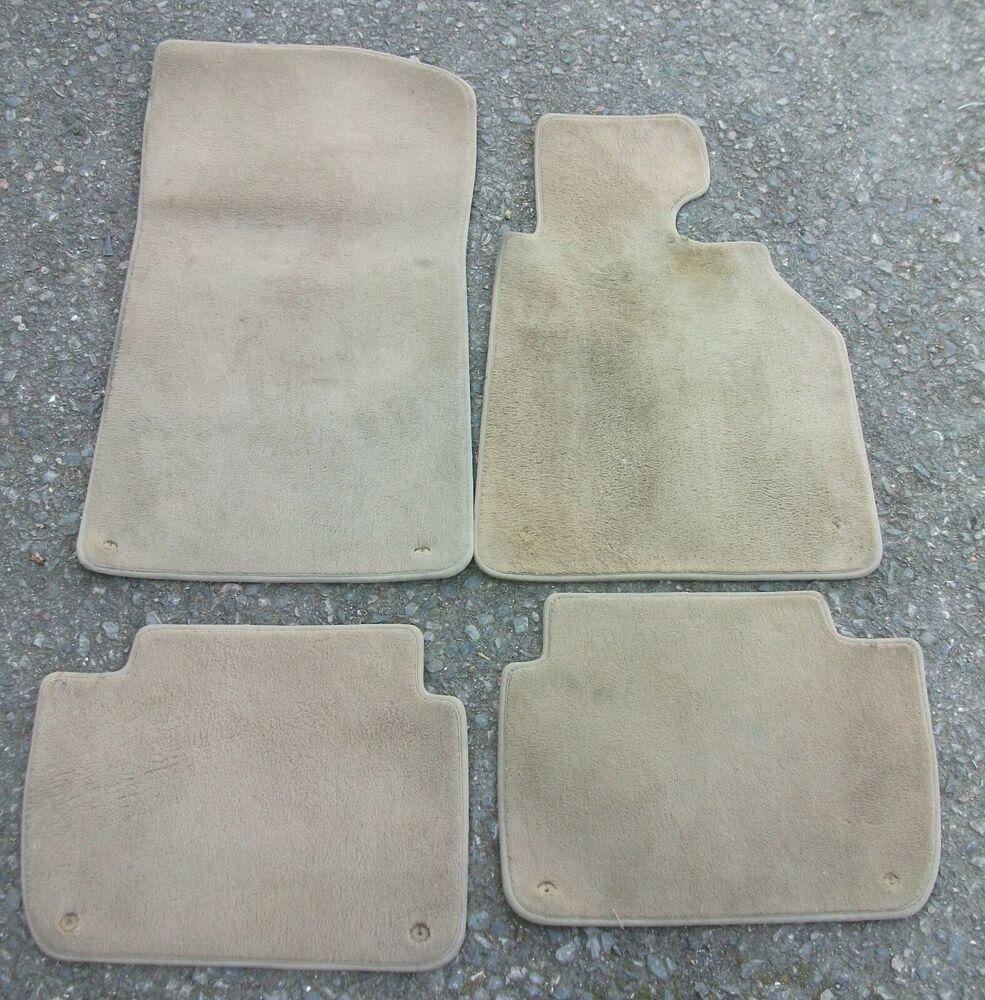 Set 4 Genuine Bmw 3 Series E46 Beige Carpet Floor Mats Bmw Beige Carpet Car Floor Mats Floor Mats