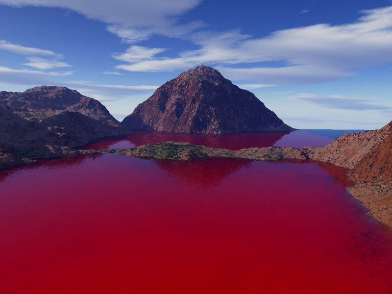 Image result for Blood lake in Chile