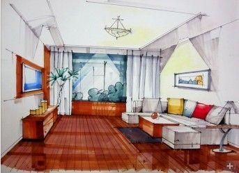 Interior Design Sketch - Living Room