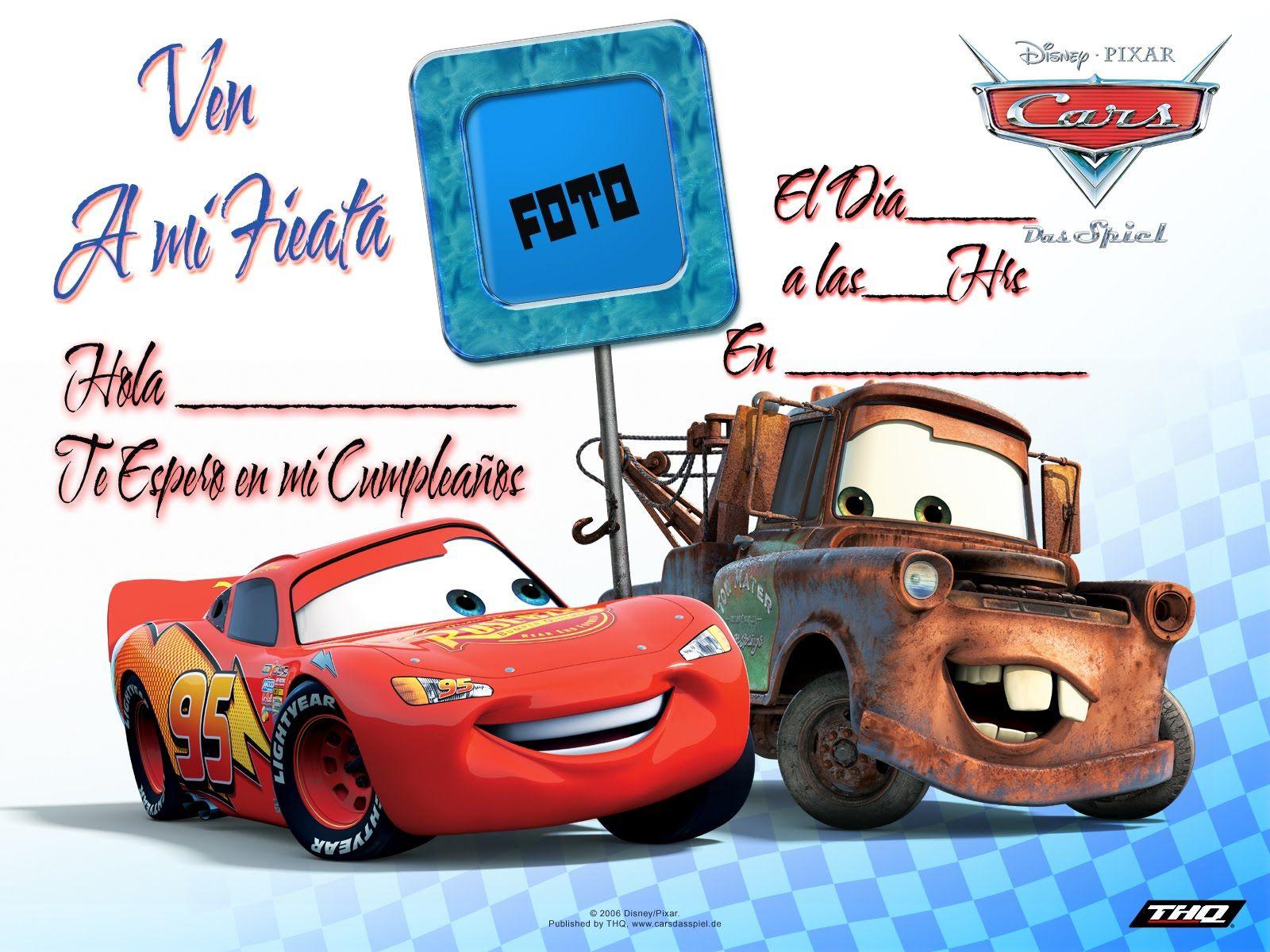 Tarjeta Cumpleaños Ben10 Y Cars Cars 04 Copia Cars