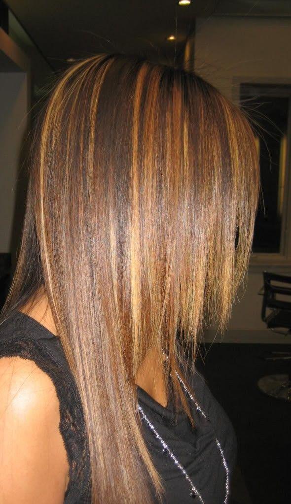 Diy Ombre Highlights Dark Brown Hair Dye For Straight Hair