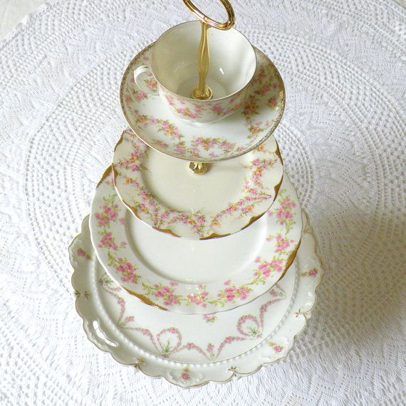 Alice Tries Wedding Cake 4 Tier Cupcake Stand by highteaforalice